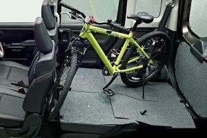MTB完成車を載せる[新型2017 スペーシア 自転車積載]