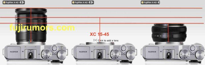 フジノンレンズのサイズ比較[XC15-45mm F3.5-5.6 OIS]