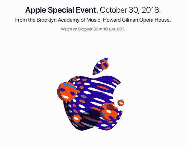 新製品発表イベント開催日[2018 Apple Special Event]