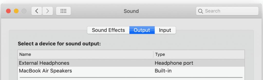 2系統の音声出力[2018 新型 MacBook Air]