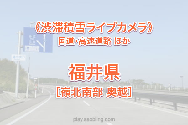 福井(嶺北南部 奥越)国道8号 他《渋滞積雪ライブカメラ》