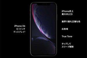 ディスプレイ機能スペック[2018 iPhone XR]