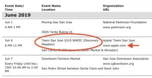 WWDC 2019 日程[アップルイベント開催日]