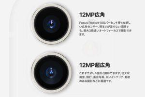デュアルカメラ(超広角・広角)[2019 新型 iPhone 11]