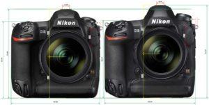 D5 サイズ比較[新型 Nikon D6]