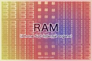 RAM メモリ搭載量[2020 新型 iPhone 9]