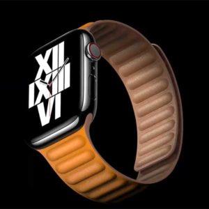 本革レザー リストバンド[2020 新型 Apple Watch 6]