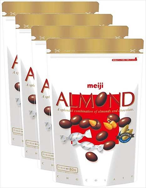 アーモンドチョコレート大容量パウチ 336g[【明治】洋菓子 ナッツ系 お徳用]